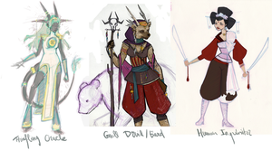 DnD Characters by Zorayas