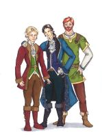 Alec, Seregil and Micum by xyqphall