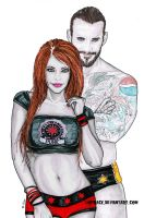 Noelia and CM Punk by Lohrack