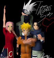 The Sims Game TEAM NARUTO by Kiki4rich