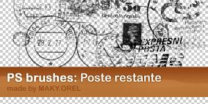 PS BRUSHES: Poste restante by MAKY-OREL