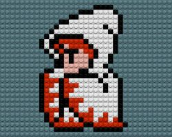 Final Fantasy White Mage Lego by drsparc
