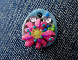 Pink Flower Pendant by Lucky101212