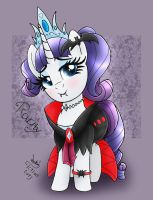 MLP FIM - Halloween Queen Rarity Outfit by Joakaha
