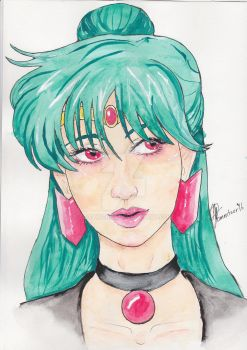 Sailor Pluto Commission by Egoamores