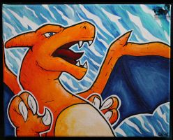 Charizard Acrylic Painting - Closeup by Forge-Your-Fantasy