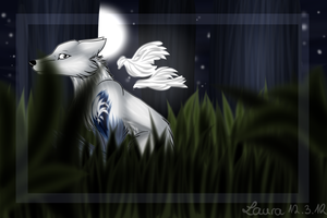 Moonlight Forest by LaikaWolfsoul-x3