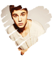 Justin Bieber Heart PNG by Maiiy