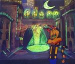 Taco El Gato animation cel glows! by FrijolesGirl