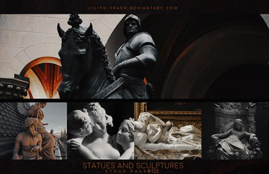 Statues and Sculptures ( Stock Pack ) #122 by Lilith-Trash