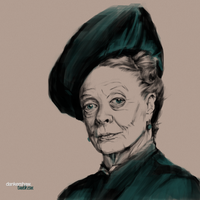 Maggie Smith #Downton by dankershaw