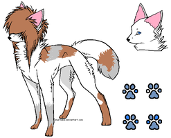 5 Point Scene Wolf Adoptable by 6LITCH-TH3-W01F