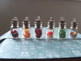 Tiny little fruit jars by chaobreeder16