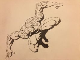 Spiderman Sketch by GtrPlaya82