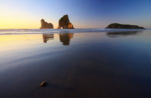 Wharariki Sunset by chrisgin