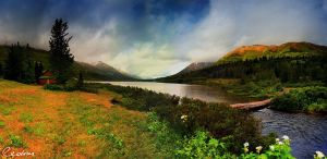Summit Lake Panoramic by cedrus