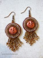 Copper Goddess Earrings by Lost-in-the-day