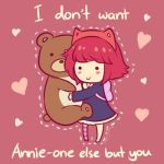 Annie - LoL Valentines Card by Cherrycake4