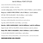 Ash and Willow Font Styles by wr0