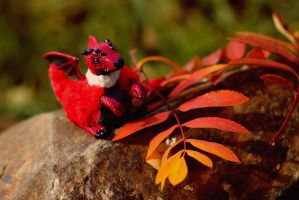 Red autumn dragon by RedFoxAlice