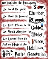 We Are The Harry Potter Generation by LenleG