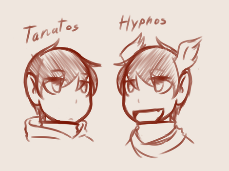 Tanatos and Hypnos by MrFendragon