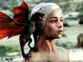 Daenerys and Dragon by SilentAbyss8