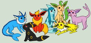 Dose Derpy Eeveelutions by Kainaa