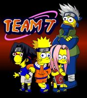 Naruto Simpsons - Team 7 by lloydvdw