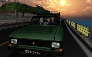 Moskvich car by 32Rabbit