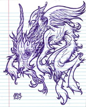 an old tattoo sketch by Andrew-Ross-MacLean