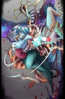 Squigly and Double by kuzusanpai
