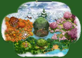 Pixie Hollow Map by an81angel
