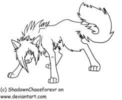 .:Scene Dog Lineart:1:. by ShadownChaosforevr