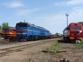 The Soviet Diesel Locomotives by Teplovoznik