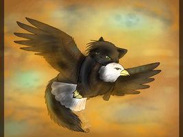 CE: Carried On An Eagle (Hollyleaf) [+Speedpaint] by Amerikat