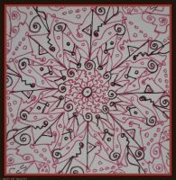 Centre of First Mandala by Tigles1Artistry