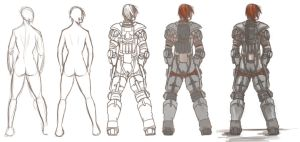 some sci-fi armor by Draagonfly