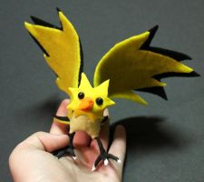 Zapdos Pokemon Posable-For Sale by superayaa