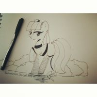 Maud Pie Sketch by Balloons504