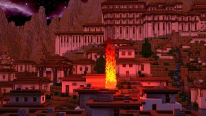 Burning Village (Fire Test) - Night/ Sky Change by KingFromHatena
