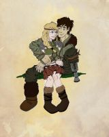 Hiccup and Astrid by LizDepp