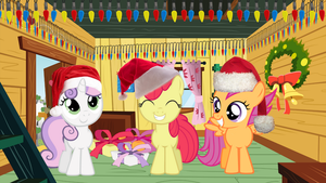 Cutie Mark Crusaders Christmas by zaponator