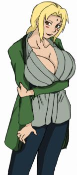 Tsunade Thinking About Naruto (colored) by BouncyCG