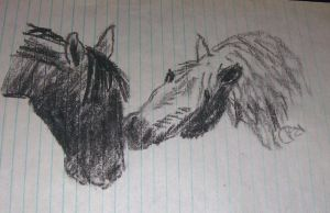 Charcoal Horses by Piebald111