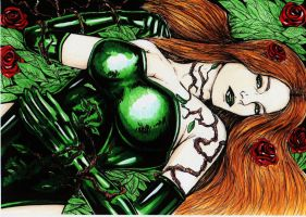 poison ivy artwork by darkartistdomain