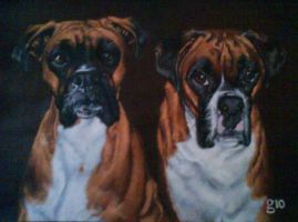 Bruiser And Chester. by BlackLabelArt