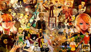 Kagamine The Mirror of the Resounding Past by Leomonta