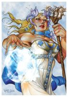 Spellcasters Trading Card by RichardCox