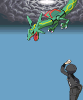 Me catching Rayquaza by Gothboy86